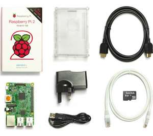 Raspberry Pi 2 Starter Kit Second Generation 1GB RAM Quad-Core ARM Cortex £34.99 at EBAY Currys Outlet