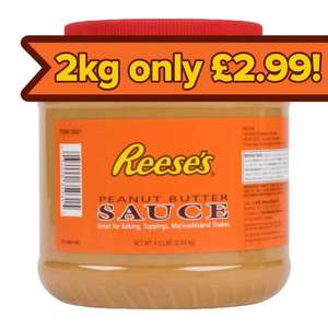 Out of date - 2.04 KG of Reese's Peanut Butter Sauce (for toppings, shakes, going at with a spoon) £1.99 Approved Food (Min £18 spend + Delivery)