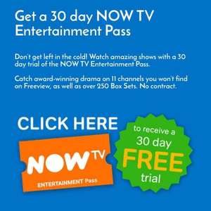 FREE NOW TV ENTERTAINMENT PASS WHEN YOU VOTE FOR THE NATIONAL TELEVISION AWARDS