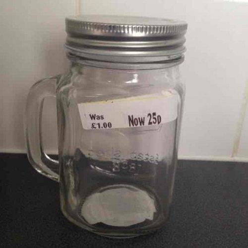 mason jugs with lids 25p @ Morrisons