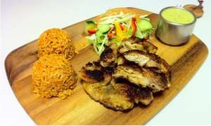 South American Grilled Chicken Lunch with Drink in Central London for 2 persons £7.46 via Groupon
