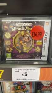 3DS Professor Layton and the Miracle Mask Now £5 @ Sainsburys