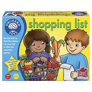 Orchard Toys Shopping List Game and others. From £4.00 @ Tesco Direct (free C&C)