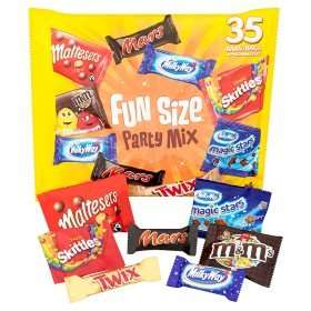 Mars Fun Size Party Mix (35 per pack - 600g)  now 2 for only £5.00 @ Asda
