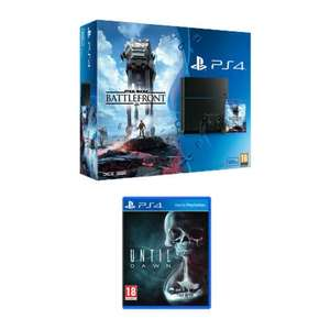 PS4 BUNDLE WITH STAR WARS BATTLEFRONT AND UNTIL DAWN - £219.94 @ Bargain Crazy