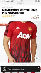 Manchester Utd Pregame shirt £20.82 delivered with code from Adidas