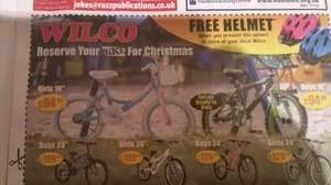 primary times -  free bike helmet from wilco