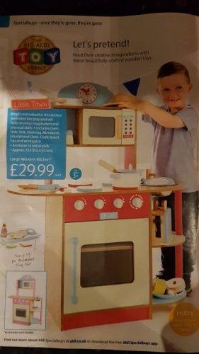 Kids Large Wooden Kitchen £29.99 @ Aldi