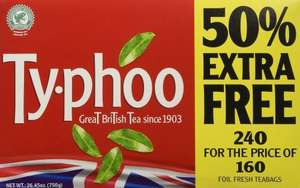 Farmfoods, 240 Ty-phoo Teabags just £1.99 instore only.