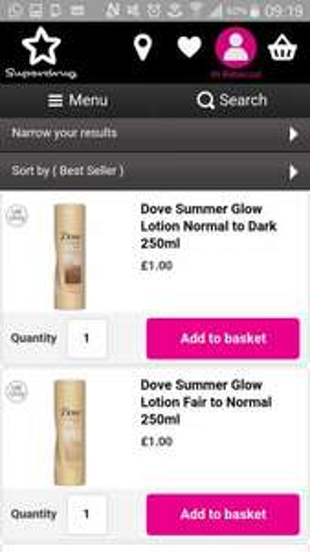 Dove summer glow - £1 @ Superdrug