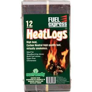 Heat Logs 12 for £3.99 @ Homebase