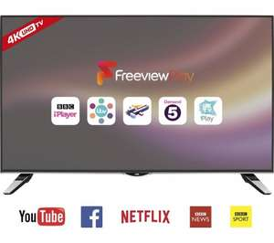 "JVC LT-40C860 Smart 4k Ultra HD 40"" LED TV - £299 @ Currys."