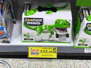 Zoomer dino from home bargains reduced to £34.99