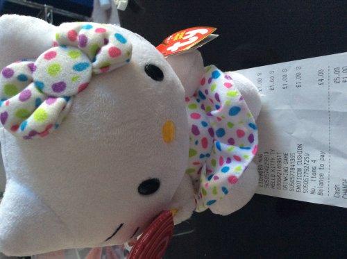 Hello kitty Ty beanie baby various colours £1 @ poundworld!