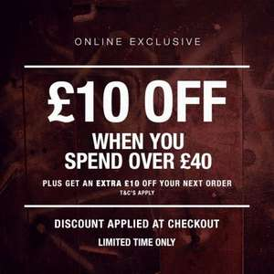 officers club £10 off £40 spend