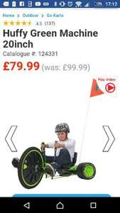 huffy green machine 20 inch £79.99 @ Smyths