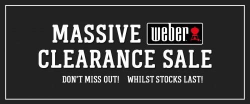 Massive Weber clearance sale at Riverside Garden Centre upto 77℅ off