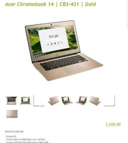 acer chromebook 14 CB3-431 £249.99 @ Acer Store UK