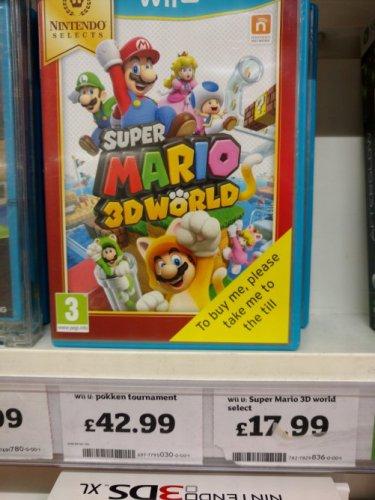 Nintendo Selects Super Mario 3D World Wii U @ Sainsbury's Letchworth £17.99