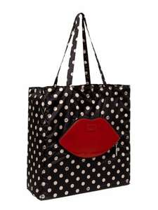 Lulu Guinness Polka Dot Lip Foldaway Shopper Bag was £39.99 now £19.99 and on 3 for 2 @ Very.co.uk