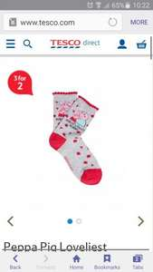 mummy pig socks Tesco - £1 and on 3 for 2 offer from Tesco direct.