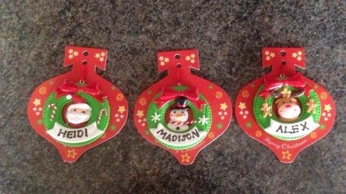 personalised christmas tree decorations £1 each @ Poundland