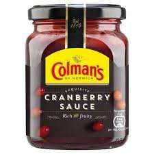 Colmans cranberry sauce 10p at farmfoods