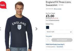 England Sweatshirt £3 at Tesco Direct