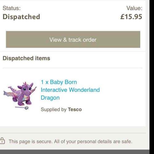 Baby Born Interactive Wonderland Dragon @ Tesco (free C&C) £15.95