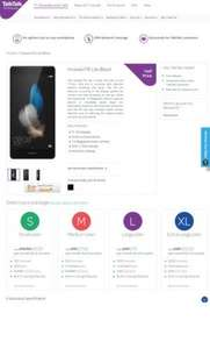 Huawei P8 Lite Black   Talk talk Huawei p9 lite half price line rental 6 months and double data - £262.50 @ TalkTalk Mobile