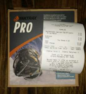 Yaktrax Pro £5 and Yaktrax Walker £4 @ Yeomans Outdoor Store, Chesterfield