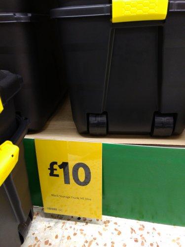 145 litre Strata black storage trunk for £10 at Morrisons