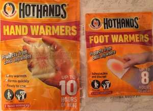 Hot Hands foot and hand warmers for 43p a pack of 2 @ Homebase