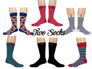Wholesale Joblot Of 50 Of Assorted Mens & Womens Socks By Two Socks at Wholesaleclearance for £30 plus delivery up to £5.99