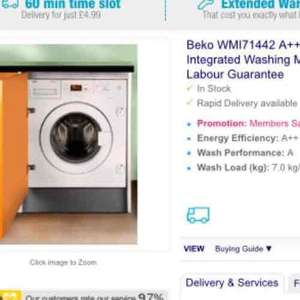 Beko integrated washing machine WMI71442 - save £60 and get some detergent too at Co-Op Electrical for £269.76