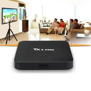 TX3 PRO Android 6.0 Marshmallow Amlogic S905X VP9 HDR 4K H.265 64BIT TV BOX Kodi 16.1 DLNA Miracast Wifi LAN Google Streaming Media Player Sold by Mifanstech UK and Fulfilled by Amazon £22.99