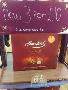 3 boxes for £10 Thornton's Fireside Favourites @ Thornton's Washington Galleries