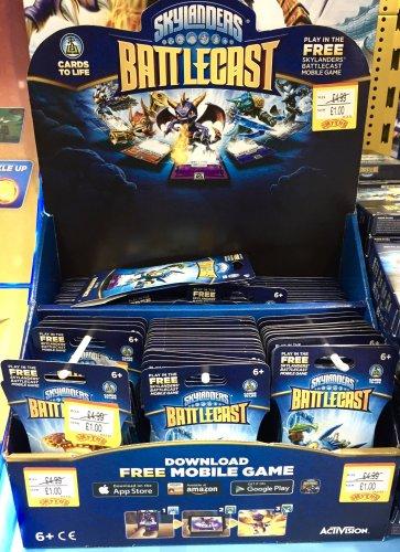 Skylanders Battlecast £1 Booster / £4.99 Packs instore at Smyths Toys