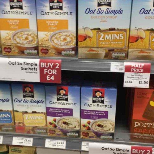 Waitrose 40 sachets of Oat So Simple... £3.98 @ Waitrose