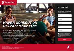 Free 3 Day Trial Available @ Fitness First