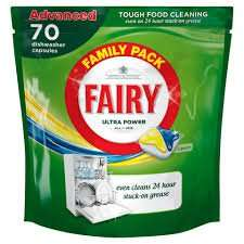 Fairy Platinum All in One Dishwasher Tablets Lemon (70 pack) reduced to clear from £14.00 to £7.00 @ Asda