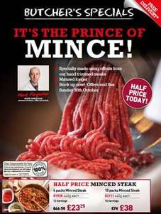 Donald Russell Specials - Mince 1/2 price and more - free delivery over £30