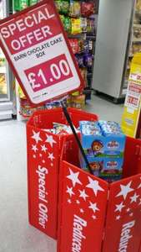 Barny Bear milk kids sponge bar box of 24 x 30g (750g) - £1 (rrp £8.50) @ CC Continental supermarket (Leeds)