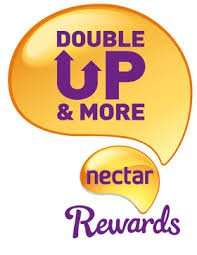 Nectar Double-Up Back 16th - 22nd November - Sainsburys