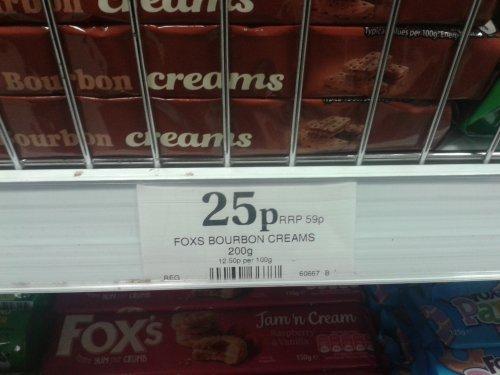 Fox's Bourbon Creams 25p @ Home Bargains