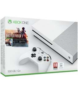 Xbox One S 500GB Battlefield 1 Console Bundle with Gears of War 4 and Halo 5: Guardians Offer ends 25th October 2016. £269.99 @ Argos