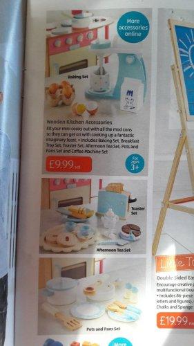 wooden kitchen accessories £9.99 @ Aldi