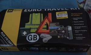 AA Euro travel kit reduced to £7.00 in Tesco - Belfast Includes £10 discount on membership.