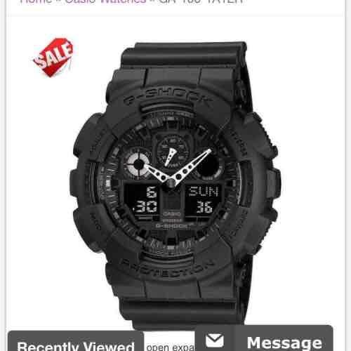 CASIO G-SHOCK XL GA-100 CHRONOGRAPH ALARM BLACK - £59 @ First Class Watches