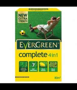 evergreen complete 4 in 1 lawn feed , weed and moss killer 2.8KG now only £5 @ B&Q